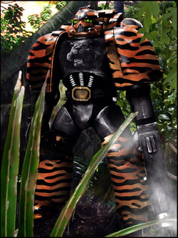 A Fighting Tiger Marine on a Jungle Mission.