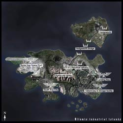 Strategic map of the Illumis industrial islands.